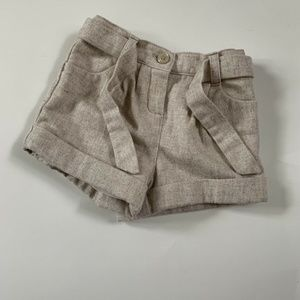 Janie & Jack Shorts Lined All In Bows Wool Blend